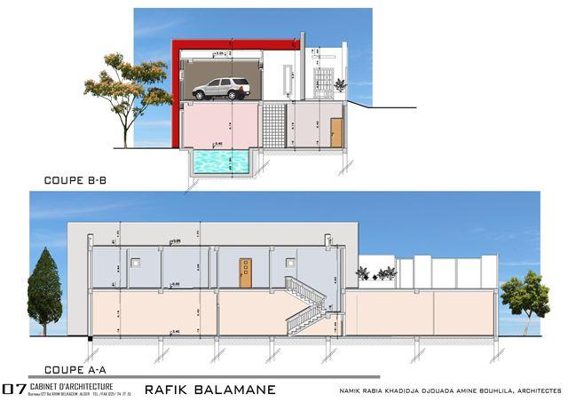 plan d'architecte de maison en algerie
